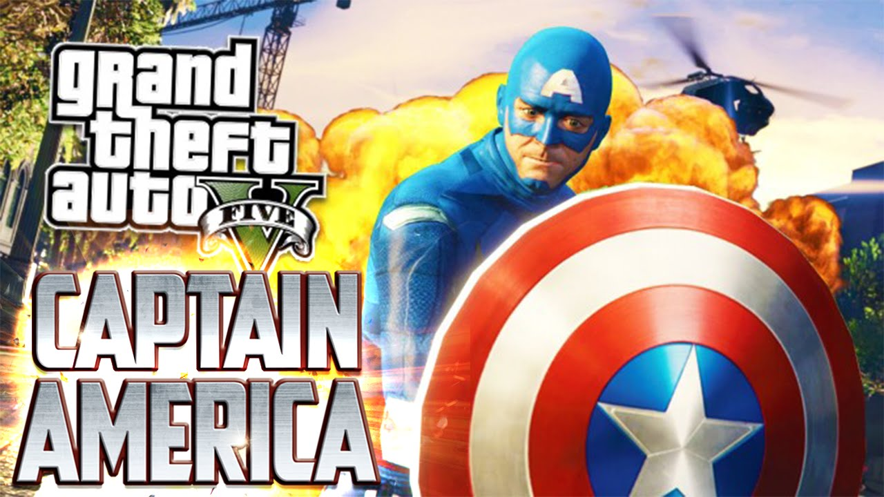Kaptan Amerika Gta 5 Captain America Modu Youtube