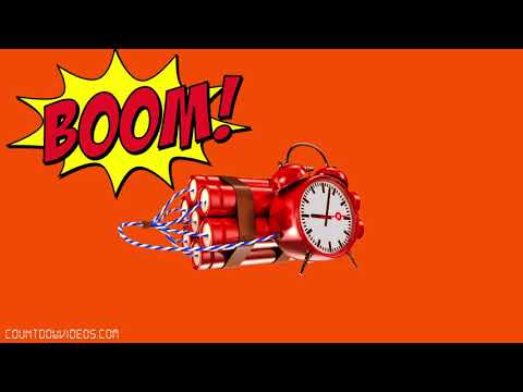 ?BOMB 10 Minute Countdown Timer ?Ticking Sound ? BIG Explosion!!