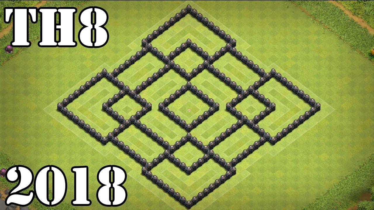 clash of clans th8 town hall 8 base 2018 anti all dragon