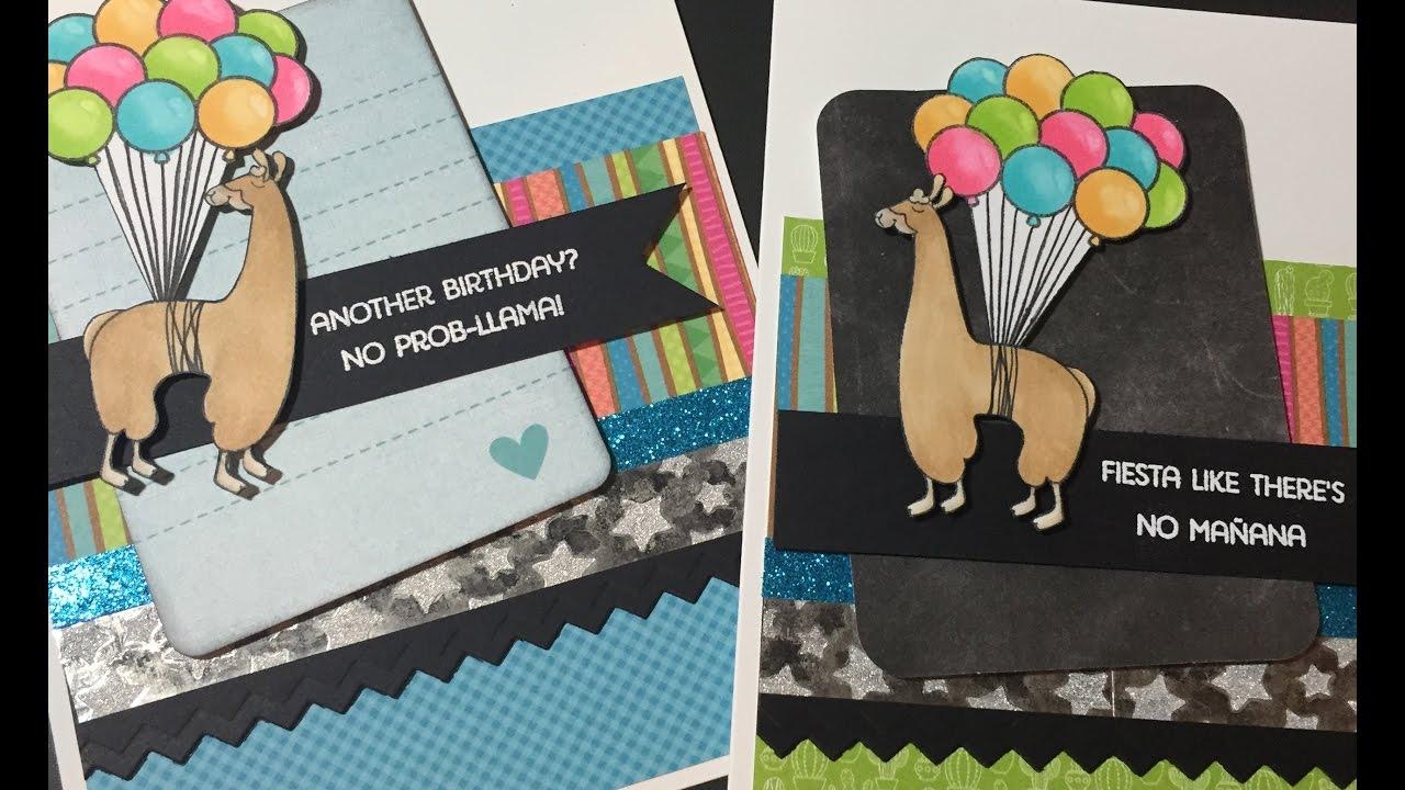 Llama Birthday Cards For Not2Shabby