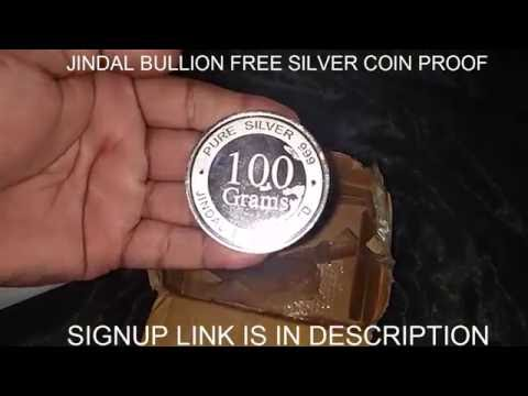 Jindal Bullion Free 100 GM SILVER COIN Proof