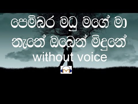 Pembara Madu Mage Karaoke (Without Voice) පෙම්බර මධු මගේ