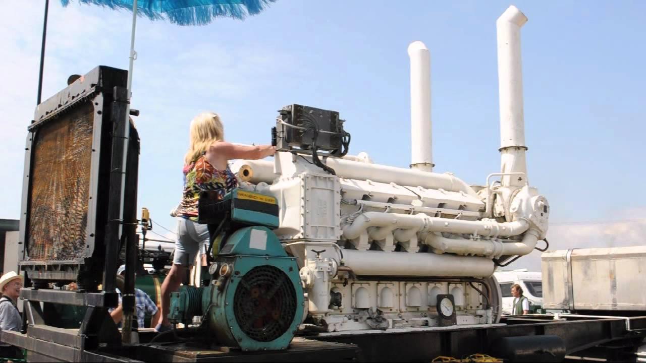 Paxman V12yha Diesel 60 Litre 450bhp 1000bhp Ship Engine From Hms Rhyl Youtube