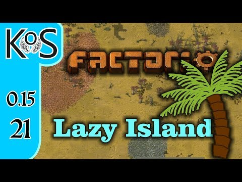 Factorio 0.15 Lazy Bastard Achievement Ep 21: SCIENCE PREP - Lazy Island, Let's Play, Gameplay