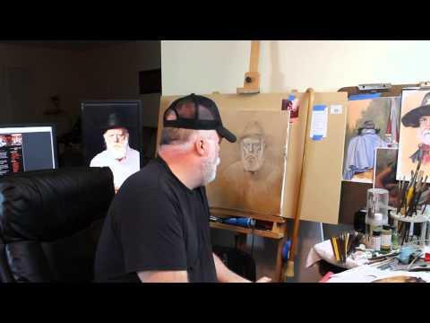 Jims Oil Portrait Part 3 - Pick out Method 1