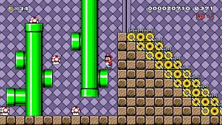 [6-1]Mechanical Pipework Mansion by bruhhhhhh - SUPER MARIO MAKER - NO COMMENTARY