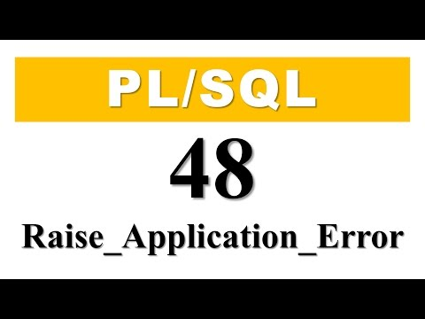 PL/SQL tutorial 48: Declare User-Define Exception using RAISE_APPLICATION_ERROR