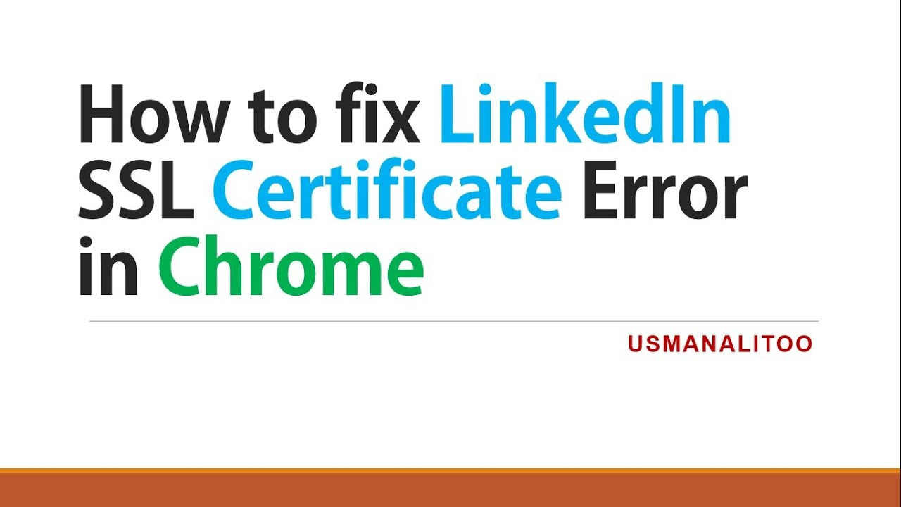How to fix linkedin ssl certificate error in chrome youtube 1betcityfo Image collections