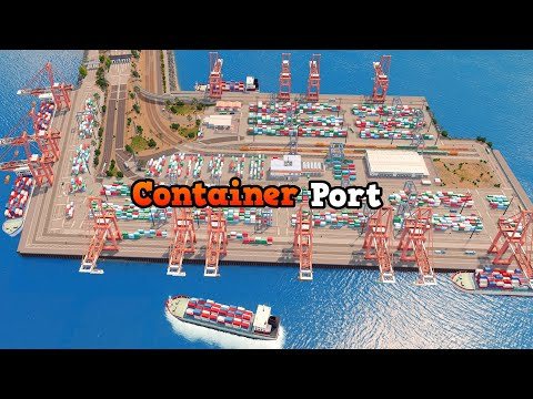 Building a Container Port in Cities: Skylines | Sunset Harbor DLC | Vanilla Assets | Ep. 13