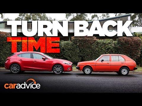 Mazda Old v New 2017 Mazda 3 SP25 Astina v 1980 323 De Luxe Comparison