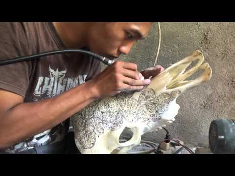 Carved Cow skull Bali