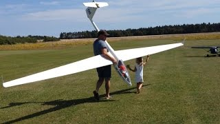 Santa flying a Giant RC glider