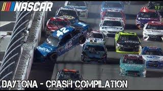 Nascar - 2017 - Daytona - Crash Compilation thumbnail