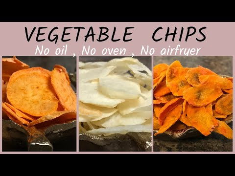 How vegetable chips are made   How to make vegetable chips   Crispy Chips Recipe in 3 Tasty Flavors