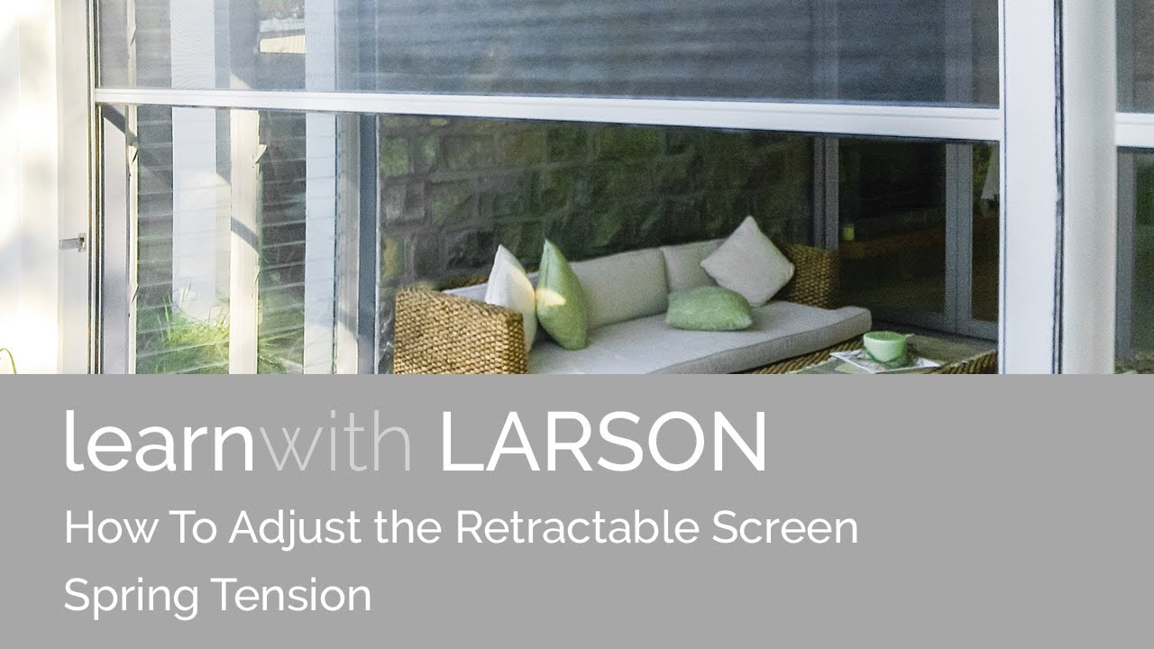 How To Adjust The Retractable Screen Spring Tension Youtube