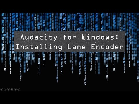 Audacity for Windows: Installing Lame Encoder