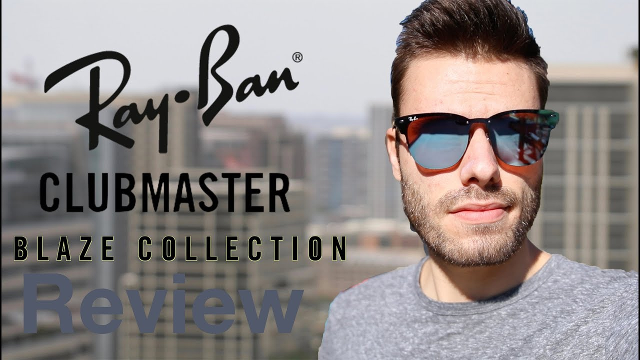 23a9201ac Ray Ban Clubmaster Blaze Review - YouTube