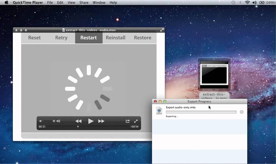 Extract the Audio Track from Video in Mac OS X