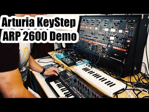 Arturia KeyStep and ARP 2600 Demo   Berlin School of Electronic Music Style