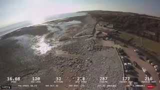 F450 flight at Llantwit Major Beach
