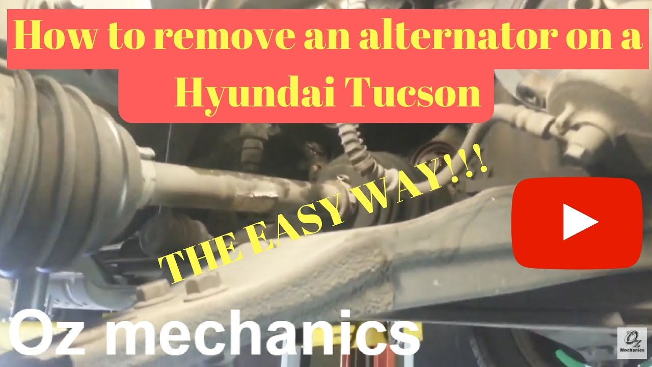 How To Remove Alternator On Hyundai Tucson Easy Way Youtube