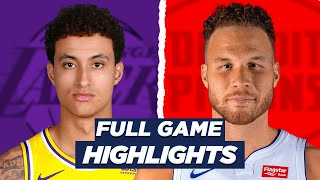 LA LAKERS at PISTONS FULL GAME HIGHLIGHTS