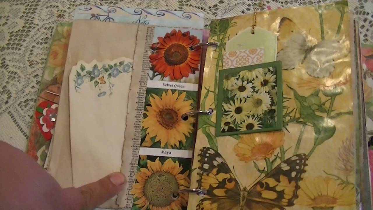 Vintage Garden Junk Journal for JJJ swap - YouTube