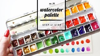 Setting up a new Watercolor Palette! | step-by-step