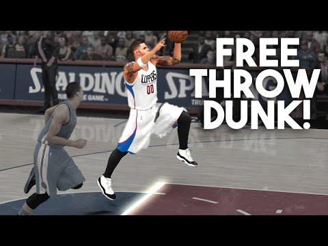 NBA 2K16 My Career :: Free Throw Line Dunk!