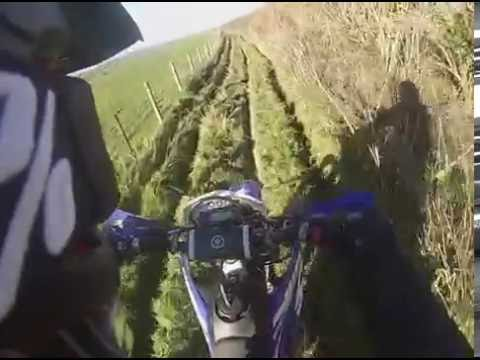 Green lanes to Loomies cafe Wr450f