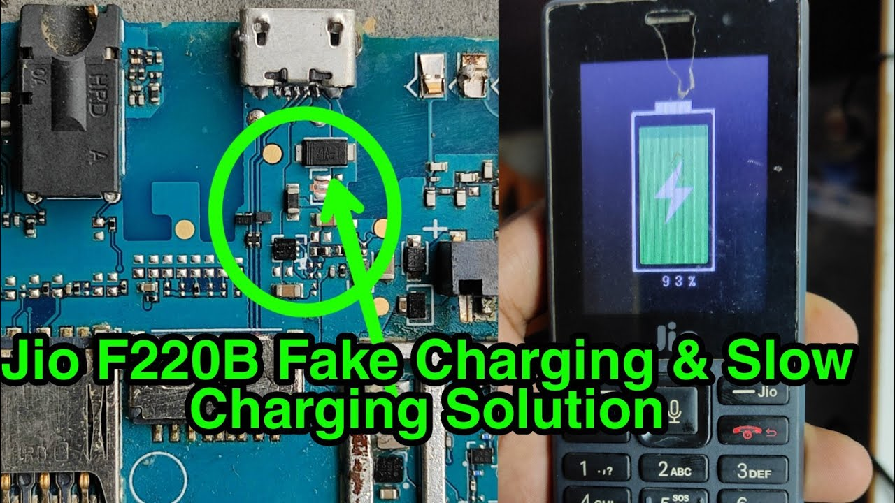 Jio F220B Fake Charging Slow Charging Problem Solution | jio phone charging solution