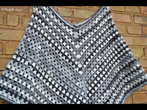 Diy Granny Stripe Poncho Youtube