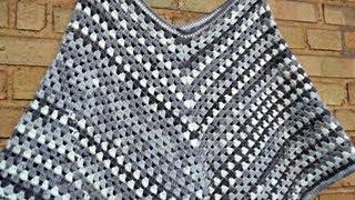 Repeat youtube video DIY - granny stripe poncho