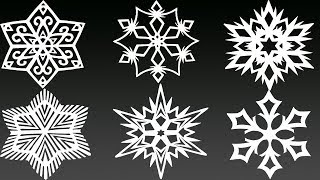 6 AMAZING Paper Snowflakes in 5 MINUTES EACH - Yakomoga