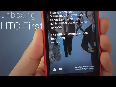 HTC First (Red) Unboxing, Size Comparison, Hands On