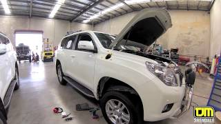 TJM Brendale Airtec Snorkel Installation Prado 150 TJM Equipped