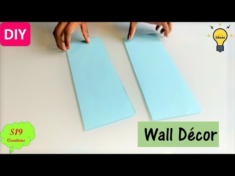 Easy wall decor ideas with paper | diy wall decor | paper craft ideas for room decor | s19 creations