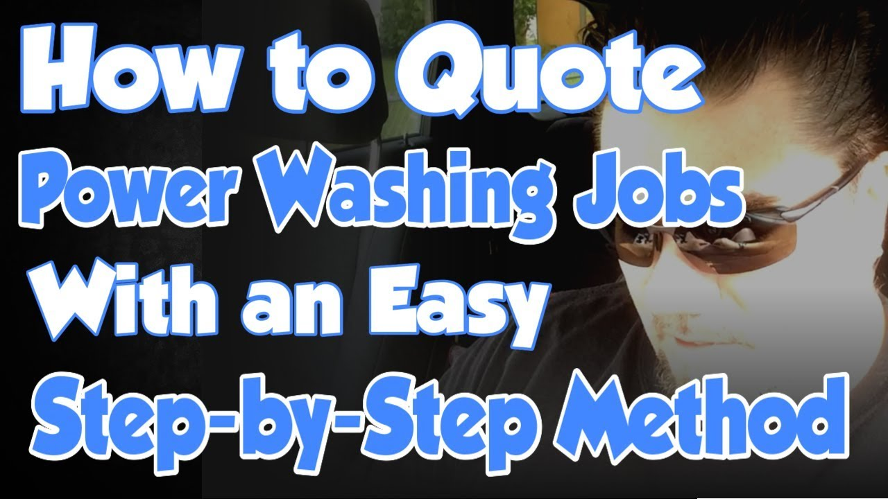 How To Quote Price Bid Washing Jobs