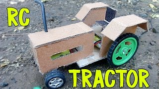 How to Make Powerful Remote Control Tractor At Home