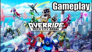 OVERRIDE: MECH CITY BRAWL [PS4 PRO] Gameplay | Arcade & Online Matches (No Commentary)