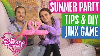 DISNEY CHANNEL VLOG | SUMMER PARTY IDEAS & DIY | BEST FRIEND CHALLENGE