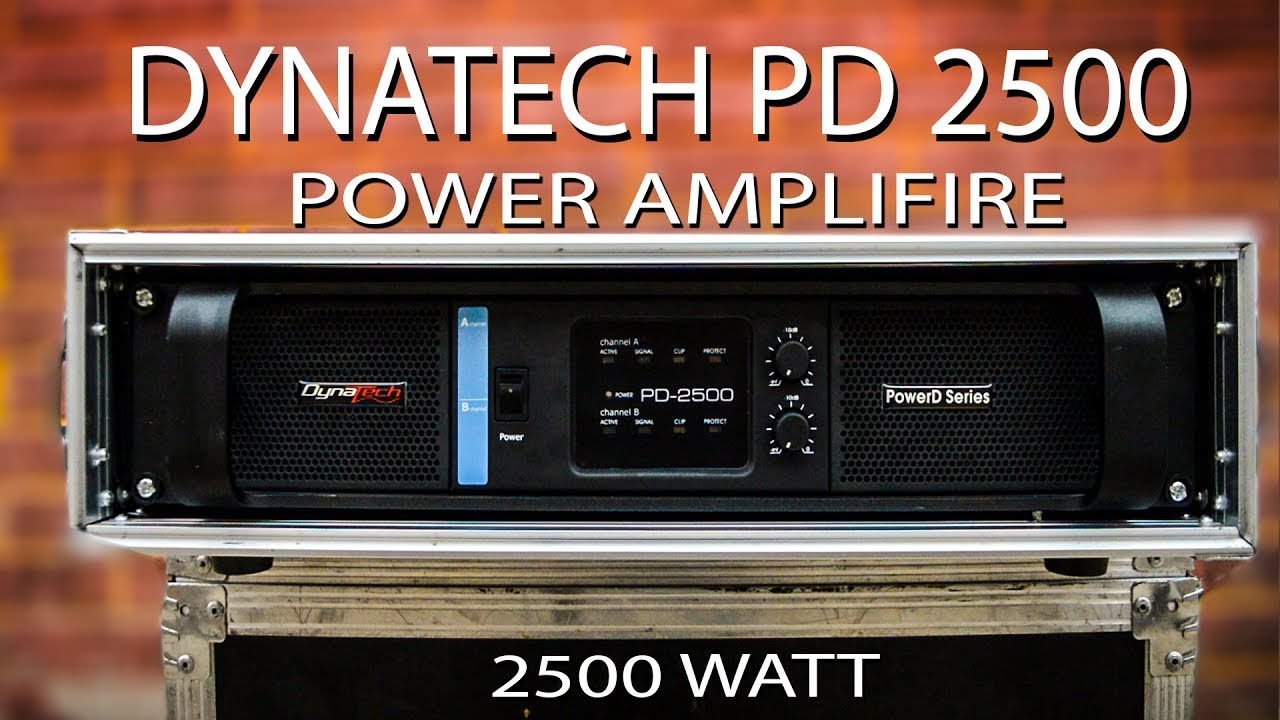 Dynatech PD-2500 I Dual Channel Power Amplifier I 2500 Watt I DJ Amplifier