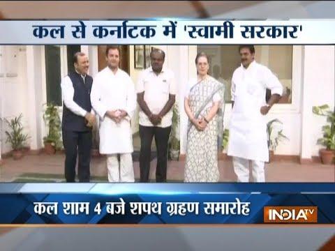 Karnataka CM-designate HD Kumaraswamy meets Congress president Rahul Gandhi