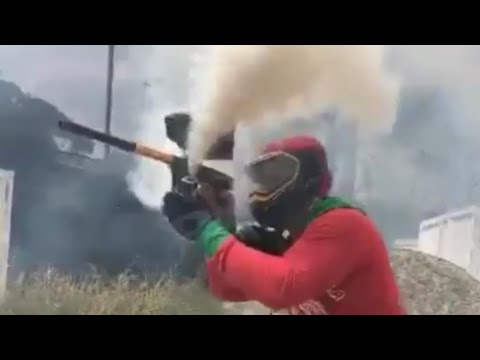 HOW TO HIDE DURING A PAINTBALL GAME + SMOKE *****
