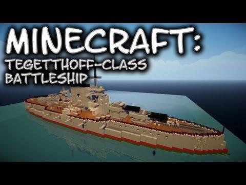 Minecraft: Battleship Tutorial (Tegetthoff-Class)