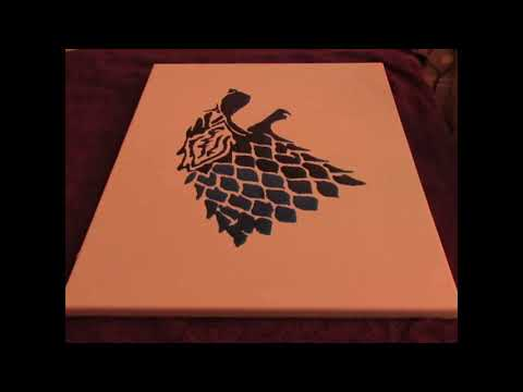 Game of Thrones - Making epoxy resin art - wall decor - painting