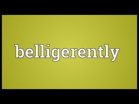 Header of belligerently
