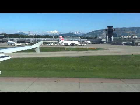 Atterrissage sur l'aeroport de Geneve Cointrin