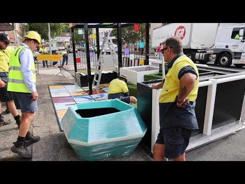 Brisbane Street parklet installation