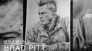 Drawing Brad Pitt in Fury